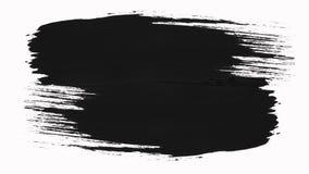 框架-抽象画笔冲程转折显露与阿尔法通道的组装 向量例证