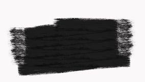框架-抽象画笔冲程转折显露与阿尔法通道 皇族释放例证