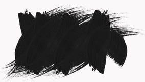框架-抽象画笔冲程转折显露与阿尔法通道 库存例证