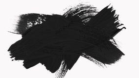 框架-抽象画笔冲程转折显露与阿尔法通道 向量例证