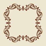 框架 葡萄酒 为容易编辑修造的井 browne 向量例证