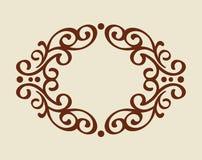 框架 葡萄酒 为容易编辑修造的井 browne 库存例证