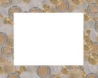 框架diffrents美元硬币 免版税图库摄影