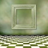 框架grunge内部老空间 图库摄影