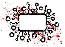 框架grunge标题 免版税库存图片