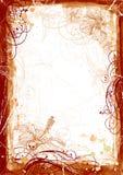 框架grunge水彩 图库摄影