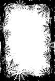 框架grunge雪花向量 免版税图库摄影