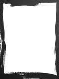框架grunge黑白照片 免版税库存照片