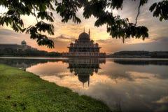 框架Putra清真寺 免版税库存图片