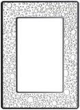 框架zentangle,传染媒介图象 花卉手拉 库存例证