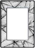 框架zentangle,传染媒介图象 花卉手拉 库存照片