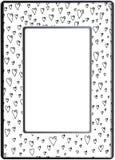 框架zentangle,传染媒介图象 花卉手拉 免版税图库摄影