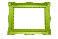 画框绿色木头 免版税库存照片