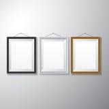 画框黑色白色木 免版税图库摄影