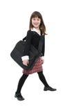 案件女孩膝上型计算机w 库存照片