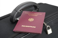 案件德国人护照 库存图片