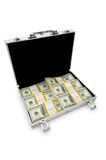 案件查出的货币 库存照片