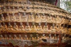 案件龙兴寺(寺庙朱绵羊) Qianfoyan 免版税库存图片