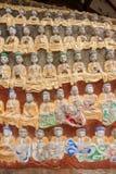 案件龙兴寺(寺庙朱绵羊) Qianfoyan 库存图片