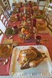 桌为一顿典雅的晚餐, Ojai,加利福尼亚设置了 库存照片