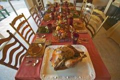 桌为一顿典雅的晚餐, Ojai,加利福尼亚设置了 免版税库存图片