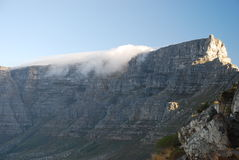 桌山。开普敦,西开普省,南非 免版税库存照片