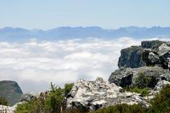 从桌山上面的看法  图库摄影