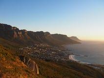 桌山国家公园视图,开普敦,南非 免版税图库摄影