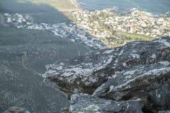 从桌山的开普敦视图 库存照片