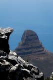 从桌山的狮子的顶头山景 免版税库存图片