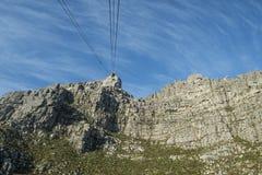 从桌山的看法到缆车 库存图片