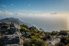 从桌山的顶端开普角 图库摄影