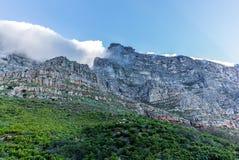 桌山陡峭的岩石墙壁的看法在开普敦- 2 库存图片