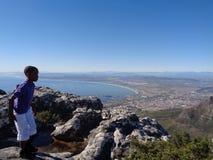 桌山,开普敦南非 库存照片