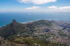 桌山ins开普敦,南非上面看法  库存图片