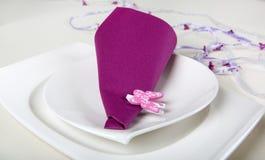 桌布景的元素在紫色的 图库摄影