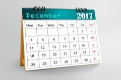 桌面日历设计2017年 免版税图库摄影