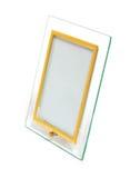桌面玻璃photoframework 图库摄影