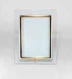 桌面玻璃photoframework 免版税库存图片