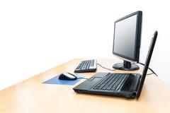 桌面笔记本 免版税图库摄影