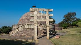 桑吉Stupa,佛教Stupa &遗产站点 库存照片