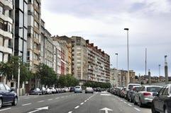 桑坦德,坎塔布里亚西班牙都市风景  库存图片