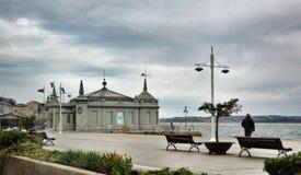 桑坦德,坎塔布里亚西班牙都市风景  库存照片
