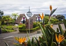 桑塔纳市在马德拉岛 免版税库存照片