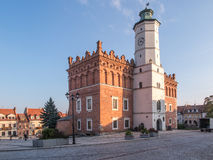 桑多梅日,波兰- 10月16 :一部分的10月16日的老镇, 免版税库存图片