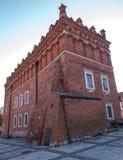 桑多梅日,波兰- 10月16 :一部分的10月16日的老镇, 图库摄影