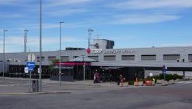 桑德尔福德国际性组织,机场,挪威 图库摄影