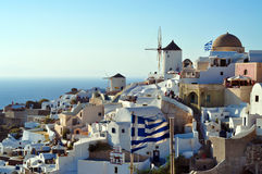 桑托林岛。希腊 免版税图库摄影