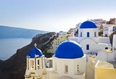 桑托林岛教会(Oia),希腊 免版税库存图片