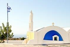 桑托林岛的教会 免版税库存照片